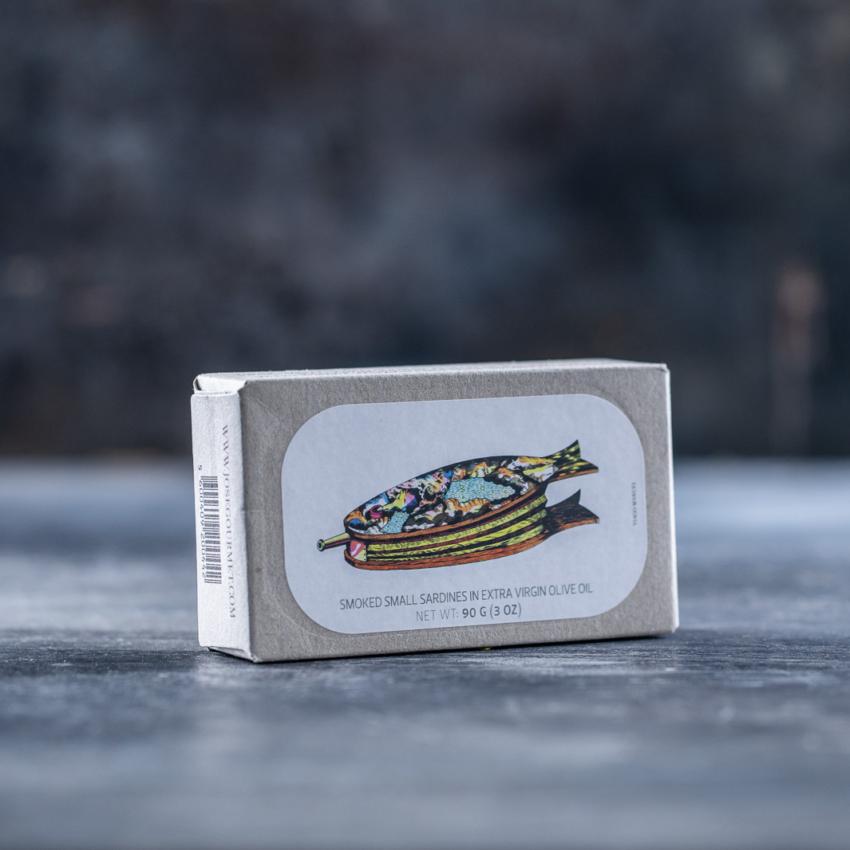 Små røgede sardiner i ekstra jomfruolivenolie – JOSE GOURMET