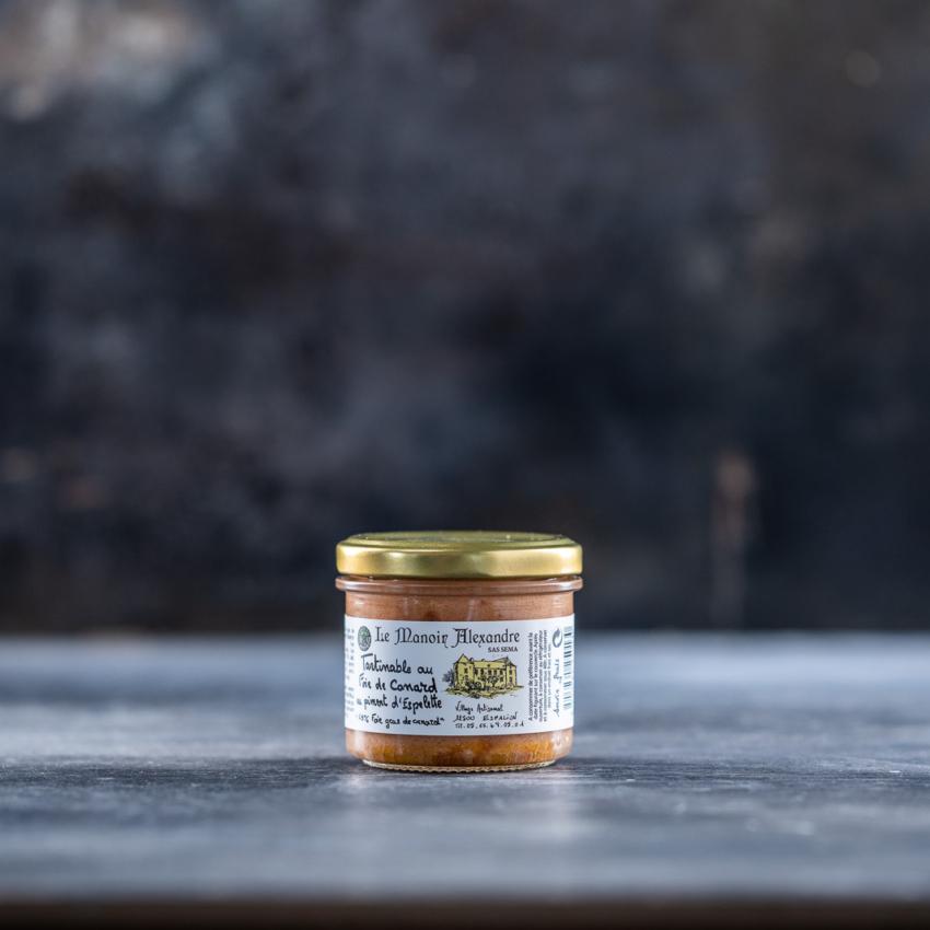 Foie gras mousse med piment d'espelette