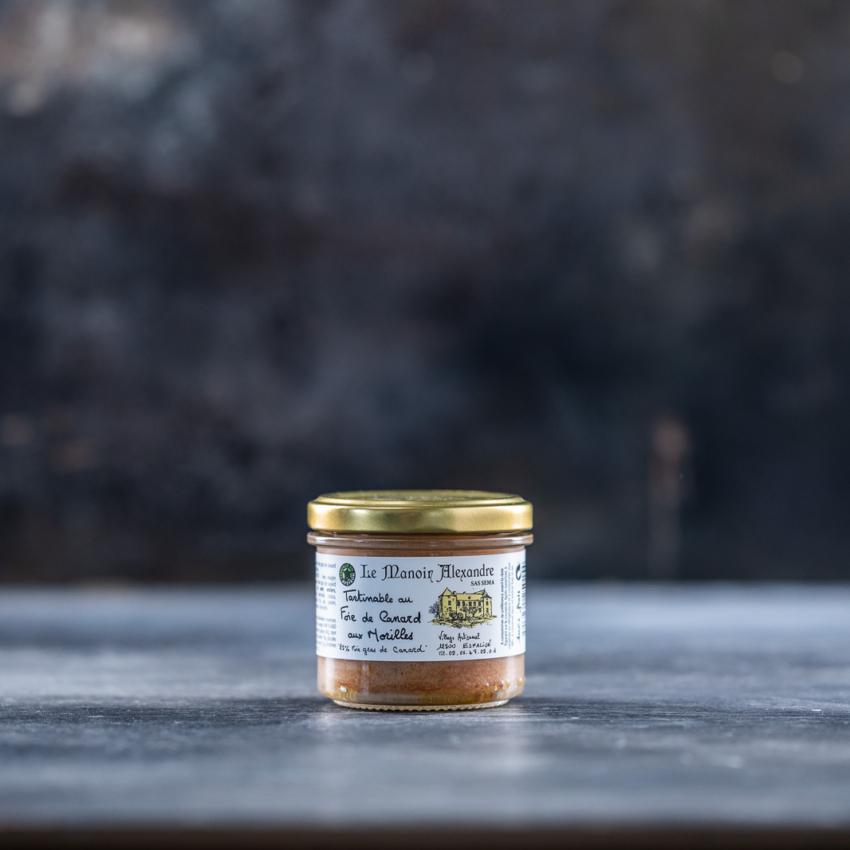 Foie gras mousse med morkler
