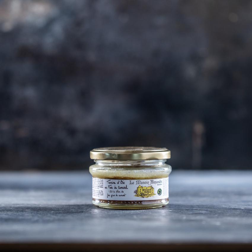 Gåse terrine med foie gras de canard
