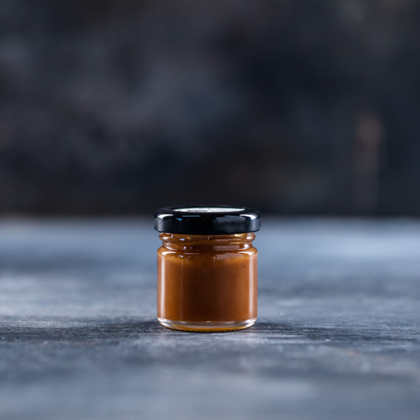 Minispread saltet smørkaramel med sichuan peber
