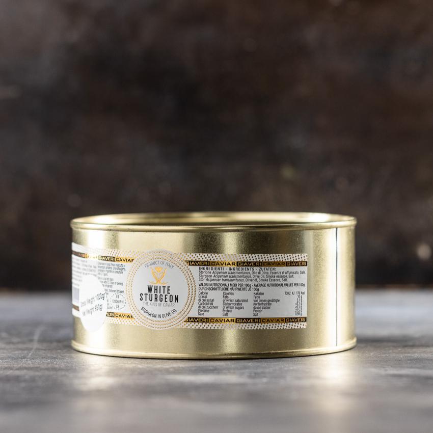 Stør i olivenolie 1000g