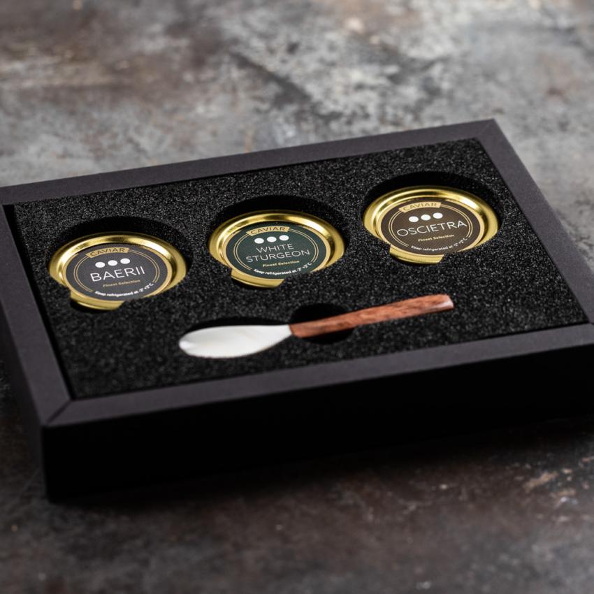 Gaveæske 3 typer Caviar